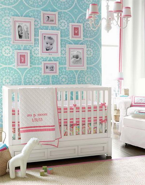 Pink Nursery for Girls.