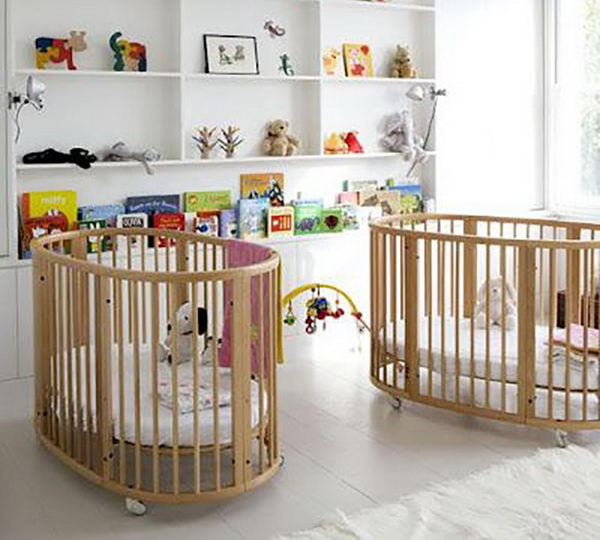 Double Cribs for Twins.