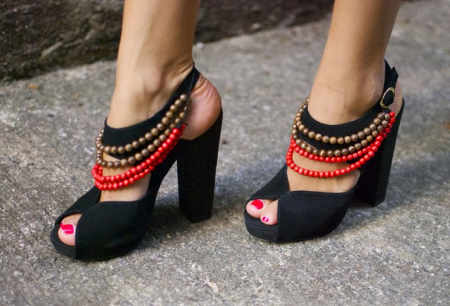 Diy Burberry Tribal High Heels.