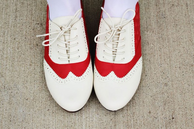 Red Saddle Shoes.