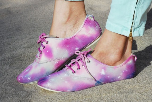 Galaxy Painted Shoes.