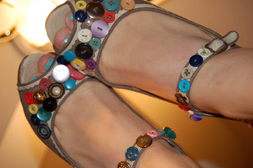 Decorate Your Shoes with Buttons.