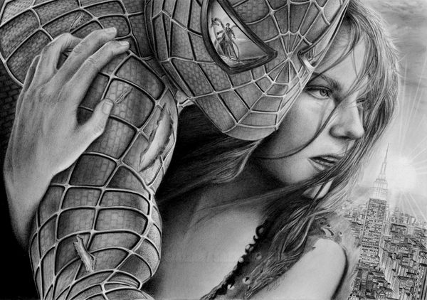 Cool Spiderman Drawing.
