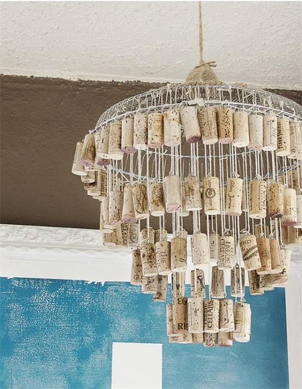 Wine Cork Pendant Lighting.
