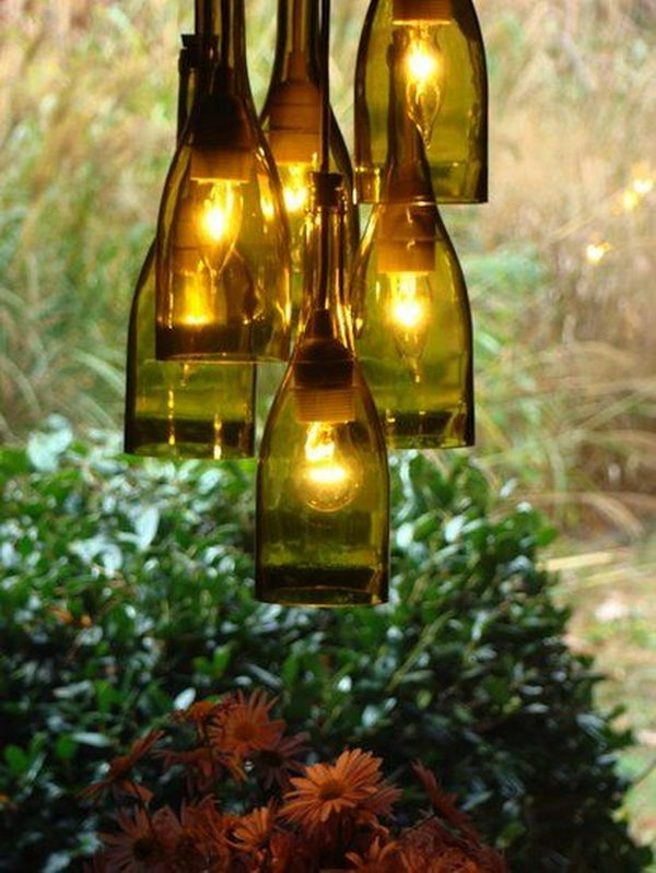 DIY Chandelier For Wine-Lovers.