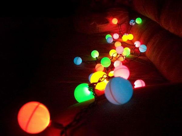 Ping Pong Ball Lights.