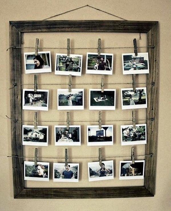 clothes line style picture frame