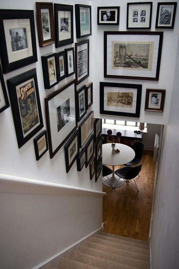 Stairway Photo Wall Decoration.