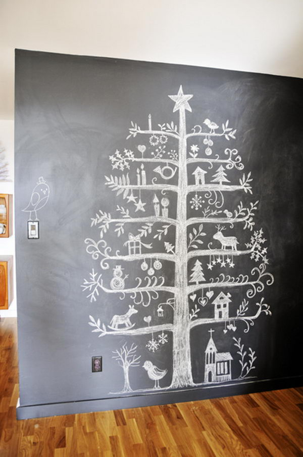 Chalkboard Christmas Tree.