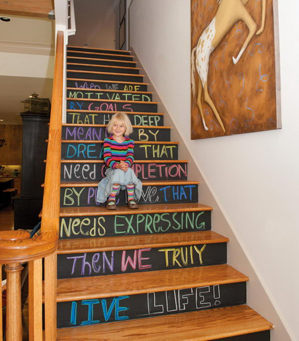 Chalkboard Stairs.
