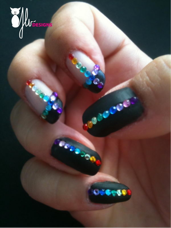 3D Rainbow, 3D nail art is a technique for decorating nails that creates three dimensional designs.