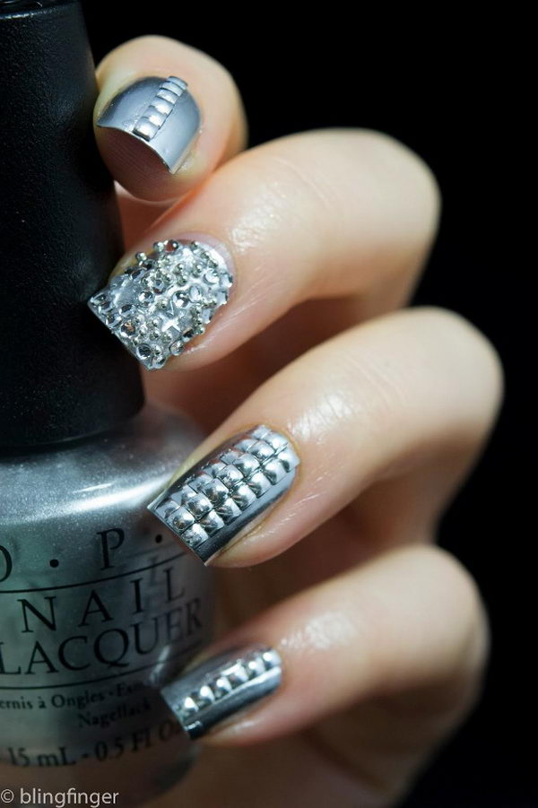 3D Metallic Nails, 3D nail art is a technique for decorating nails that creates three dimensional designs.