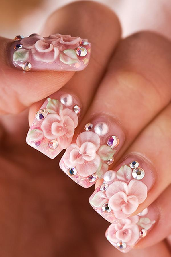 Pre Wedding Photoshoot Nails, 3D nail art is a technique for decorating nails that creates three dimensional designs.