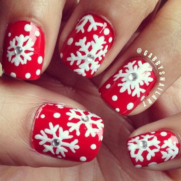 3D Snowflakes, 3D nail art is a technique for decorating nails that creates three dimensional designs.