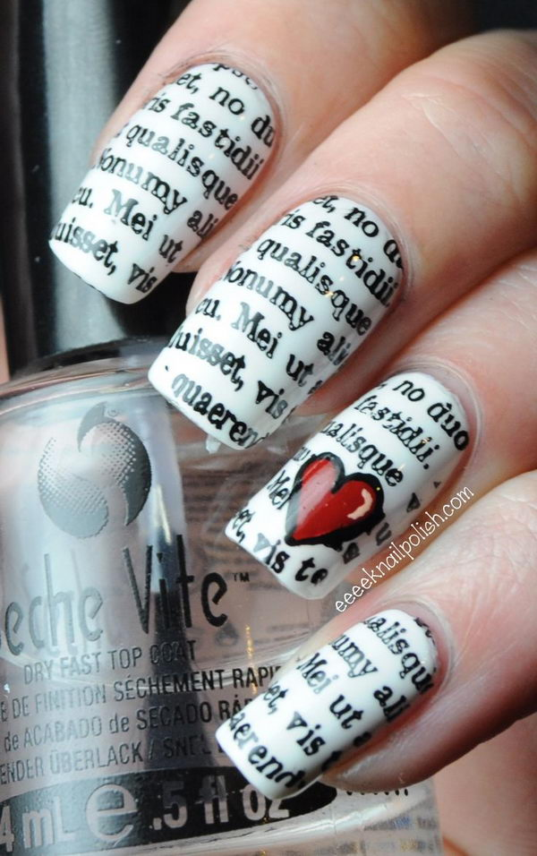 Newspaper Nail Idea.