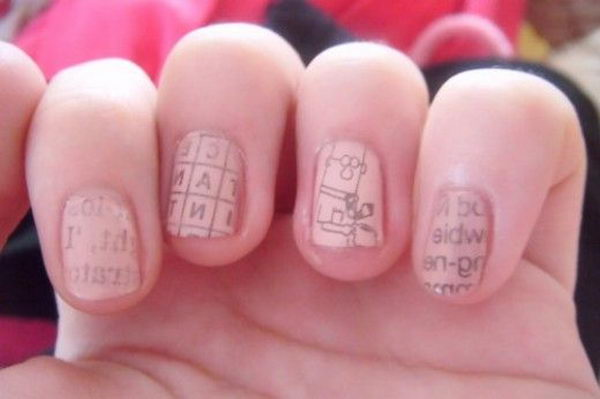 Newspaper Nails.