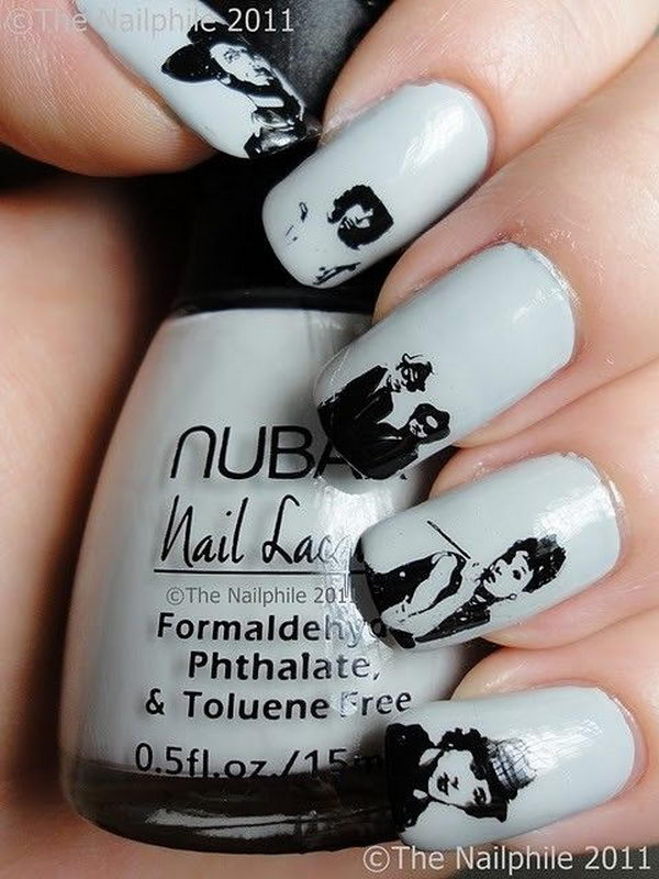 Portrait on Nails.