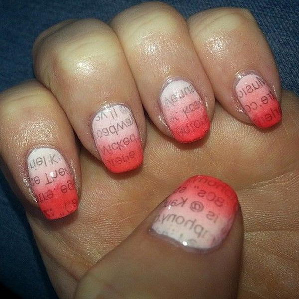 Red Newspaper Nail.