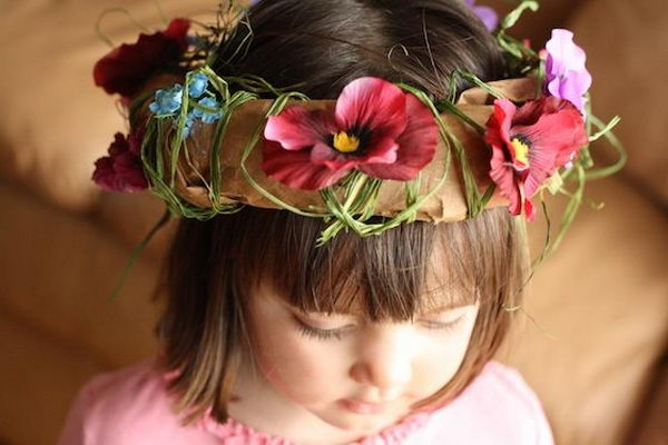Paper Bag Tiaras. There is no easier costume than a paper bag mask. Grab a paper bag and cut out holes for your eyes then grab a few markers and let your imagination go wild. They are so simple for kids to make and to wear.
