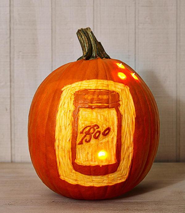 Mason Jar Pumpkin.