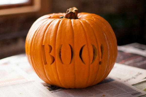 Boo Pumpkin.