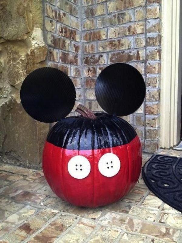 Mickey Mouse Pumpkin.