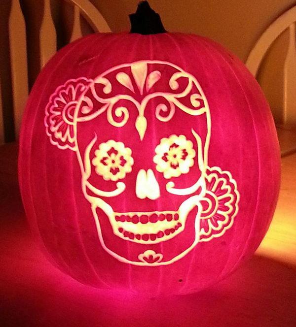 Dia De Los Muertos Pumpkin.
