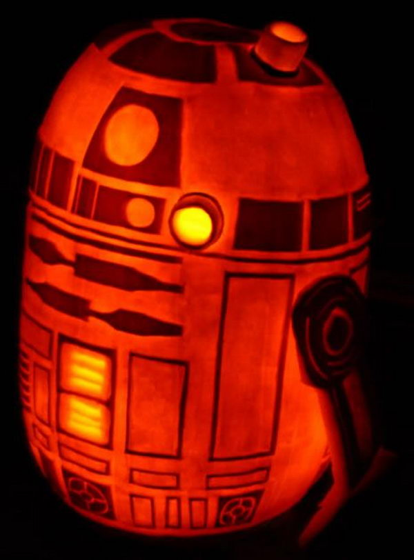 R2D2 Pumpkin.