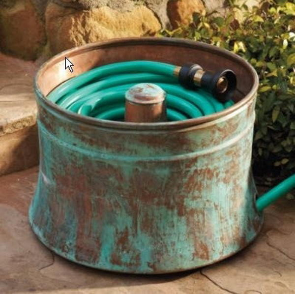 Water Hose Storage With Washing Machine Drums.
