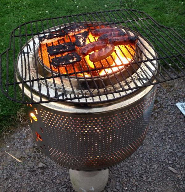 Washing Machine Drum Fire Pit.