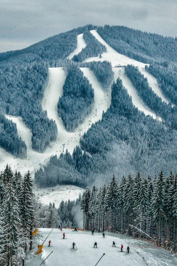 Carpathian Mountains, Bukovel, Ukraine.