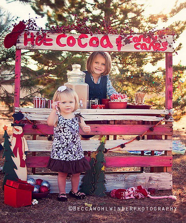 Hot cocoa stand.