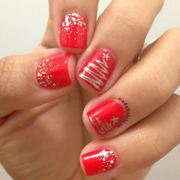 Cool Christmas Nail Designs. Decorate your nails in the spirit of Christmas. - 25 Cool Christmas Nail Designs 2017