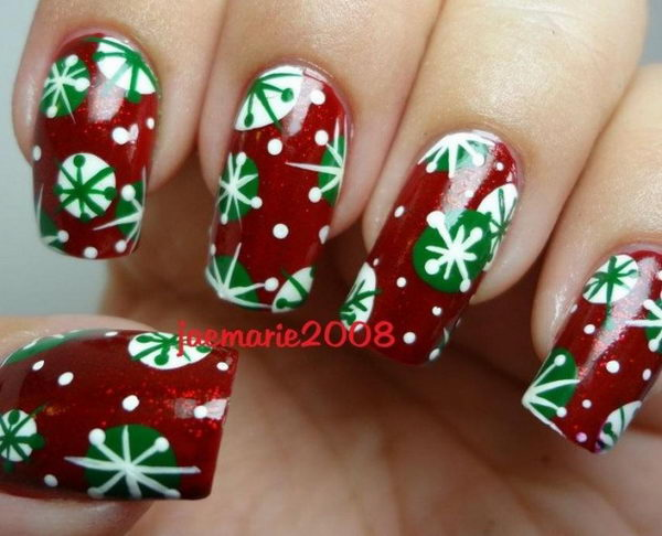 Christmas nail design ideas 2017 : Cool christmas nail designs