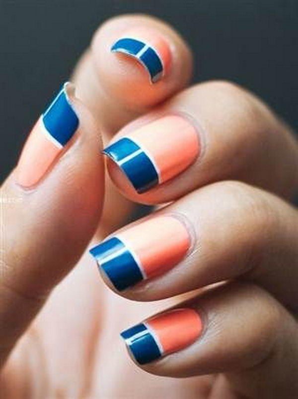 Cool Color Block Nail Designs 2017
