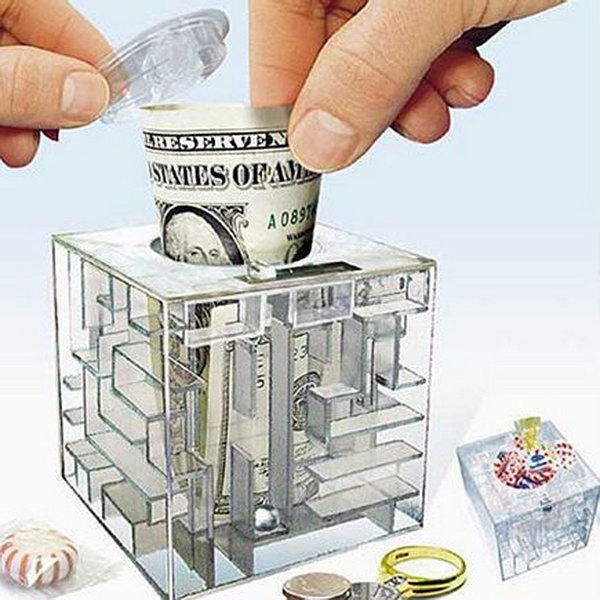 Maze Money Box. A great way to introduce the concept of saving and spending to your little ones.