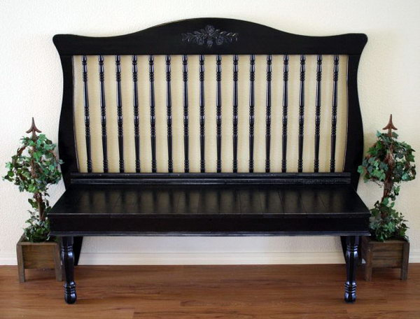 Turn crib into bench.