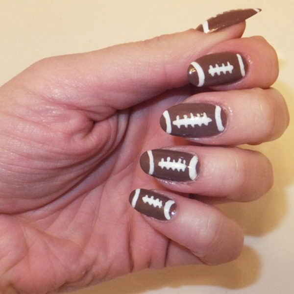 25 Cool Football Nail Art Designs 2017