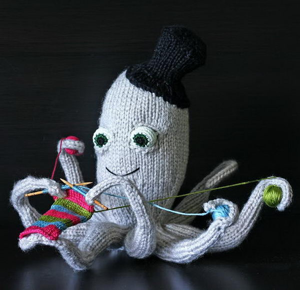 Knitted Octopus. Cool Knitting Project Ideas
