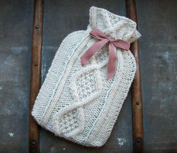 Hot Water Bottle Cover. Cool Knitting Project Ideas