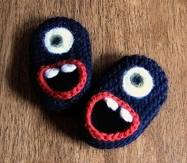 Monster Baby Shoes. Cool Knitting Project Ideas