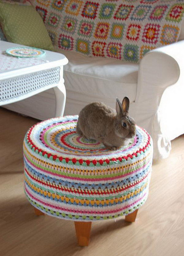 Knitting Stool. Cool Knitting Project Ideas