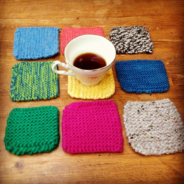 Knitted Coasters. Cool Knitting Project Ideas