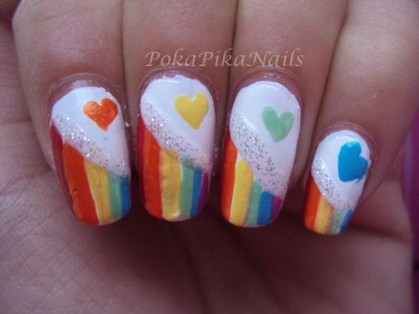 Cool Rainbow Nail Art. A beautiful and fun way to brighten up your everyday  look - 15 Cool Rainbow Nail Designs 2017