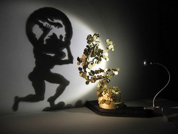 Atlas Off Balance by diet wiegman. Shadow art is a unique form of sculptural art that creates patterns on a wall or canvas using shadows or silhouettes. It is a cool art activity at home to entertain your family and friends.