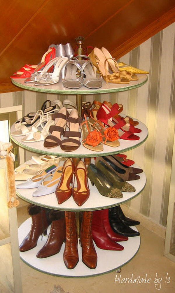 Rotating Shoe Rack,