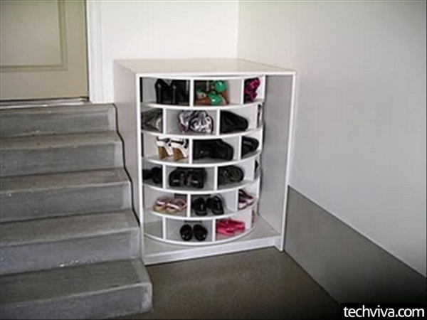 Round Shoe Rack for Storage,