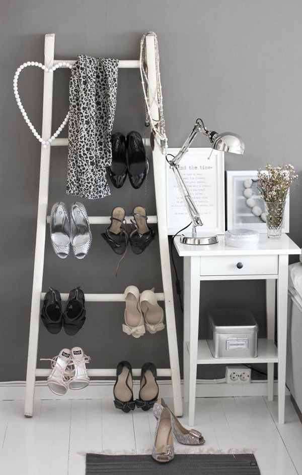 Ladder Shoes Storage,