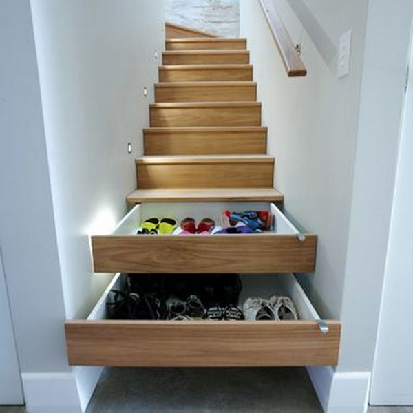 Stairs Shoe Storage,