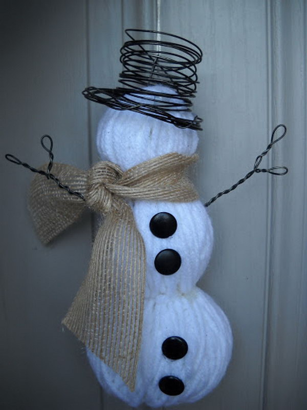 25 Cool Snowman Crafts for Christmas 2017